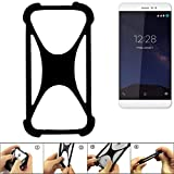 K-S-Trade Handyhülle für coolpad Porto S Schutz Hülle Silikon Bumper Cover Case Silikoncase TPU Softcase Schutzhülle Smartphone Stoßschutz, schwarz (1x)
