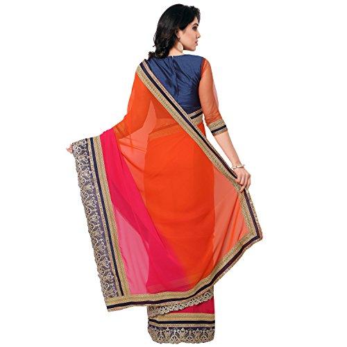 Janasya Women's Georgette Saree(JNE0860_Multi-color)