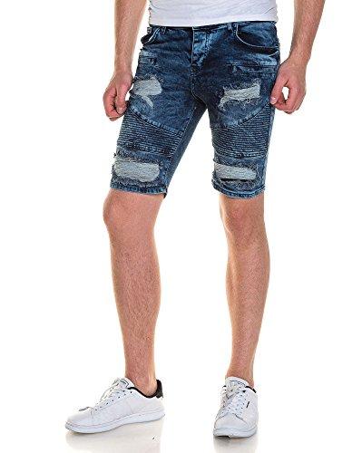 BLZ jeans - blaue Jeans-Shorts Straße gerissen Männer Blau