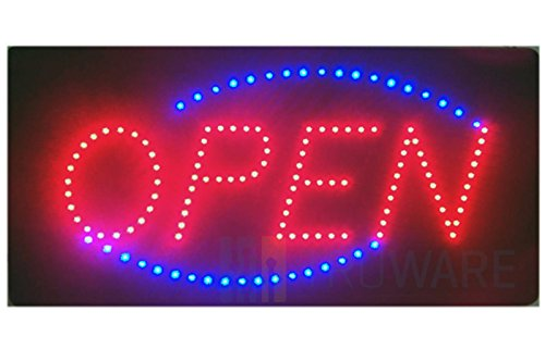 LED SCHILD LEUCHTSCHILD XXL LEUCHTREKLAME WERBUNG DISPLAY SIGNS OPEN