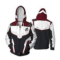 Unisex Avengers Endgame Hoodie Superhero Hoodie Adult Sweatshirt Jacket Sweatpants for Halloween Cosplay Costume (S)