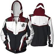 Unisex Avengers Endgame Hoodie Superhero Hoodie Adult Sweatshirt Jacket Sweatpants for Halloween Cosplay Costu
