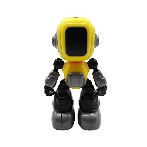 FBGood Kinder Mini Smart Roboter Spielzeug,Multifunktion Elektronisches Musik Legierung Roboter mit Kopf Induktion, Gelenkrotation,Touch Funktions Snooker Geschenke für Jungen Mädchen (Gelb)