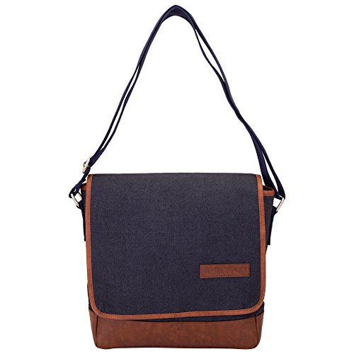 Aekyam Cross Body Small Travel Bag (Blue, Brown) - B01GRYXRCA