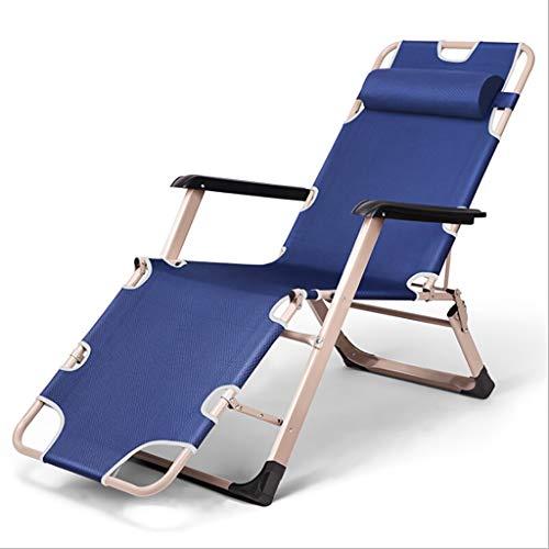 JZBar Deckchairs Beiläufiger faltender Breathable Mittagspauseklubsessel Einzelner einfacher Büro-Nickerchenbett faltendes Bettgröße: 178 * 67 * 30cm (Farbe : A)