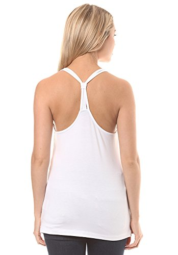 Bench Damen Jersey Strap Top Solid Weiß (Bright White Wh11185)