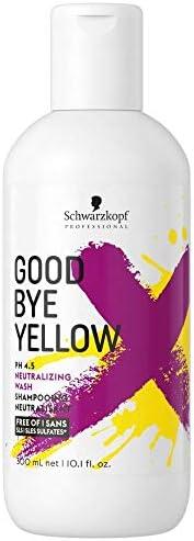 Schwarzkopf Professional Goodbye Yellow Neutralising & Anti-Yellow Sulfate Free Purple Shampoo | 30