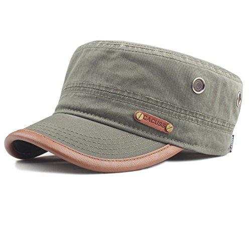 CACUSS Herren Militär Armee Kappe Einstellbar Kadett Baseball Cap (Cap Baseball Braunes)