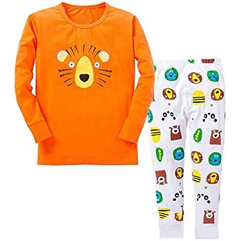 Tkria - Pijama Unisex para Niños de León de Manga Larga 0.5 Año - 6 Años