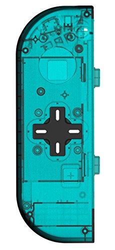 basstop DIY Ersatz Gehäuse Set für Schalter NS NX Konsole Rechts und Links Joy-Con Controller Wechseln, Ohne Elektronik Left-Ice Blue -