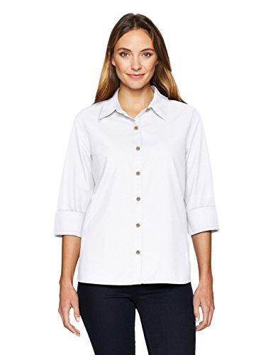 Chic Classic Collection Damen Hemd, 3/4-Ärmel, gewebt, mit Knopfleiste - Weiß - Klein - Womens Classic Collection