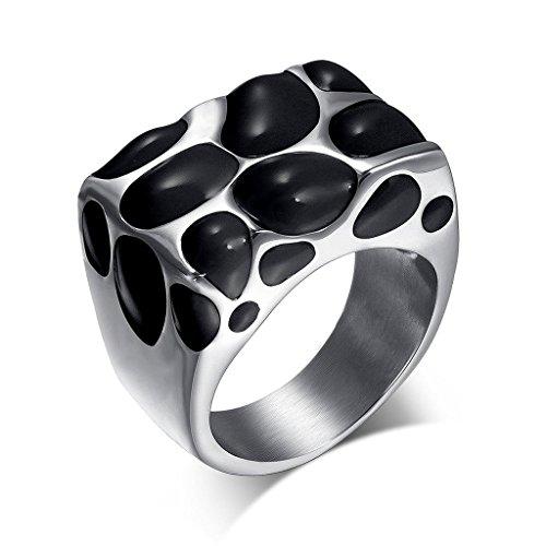 SonMo 925 Silber Ringe Damen Verlobungsring Trauringe Eheringe Pilz Ring Mann Breit Rot Eheringe Ohne Stein Gold für Frauen 60 (19.1)