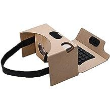 VTIN Lunette Réalité virtuelle 3D avec Pouces Ecran 4-5.5 Cardboard Kit v2.0 DIY pour iPhone 7/ 7 Plus et Android Smartphones