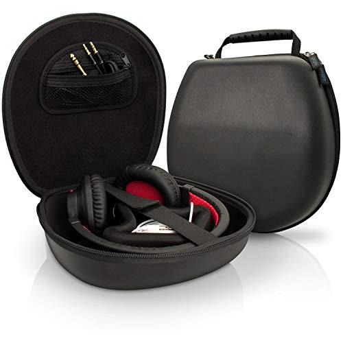 igadgitz U3804 EVA Etui Housse Rigide de Rangement pour Casque Headphones Headset (Compatible avec Sony, Philips, Pioneer, Sennheiser, Marshall, Shure, Beats, Bose et plus) - Taille interne env. 21.5 x 20.5cm - Noir