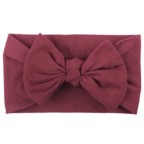 Kinder Jungen Zubehör Säuglingspflege,Mädchen Baby Kleinkind Turban Feste Stirnband Haarband Bow Zubehör Headwear ()