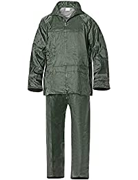 Wolfpack 15010026 Traje de Agua Impermeable Verde Nylon Talla 7-L