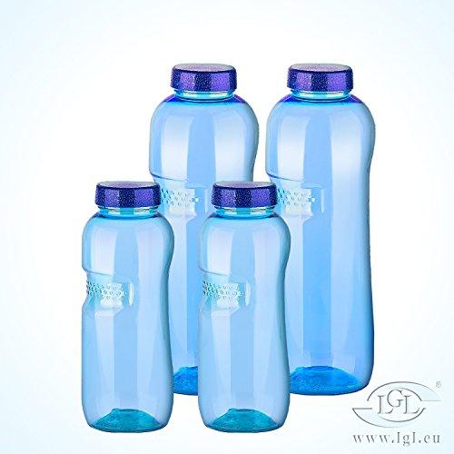 Sanquell bouteilles d'eau stables et de haute qualité en tritan, sans bisphénol a (bPa) avec verschlußdeckel - 2 x 1 l 2 x 0,5 l, pack 06