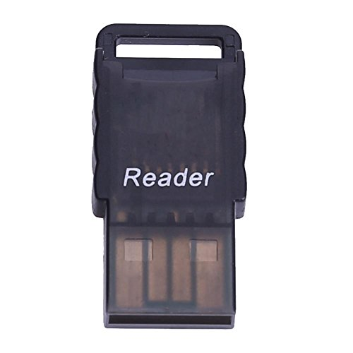 YouN Mini Portable Micro SD to USB 2.0 TF Memory Card Adapter Reader(Black)
