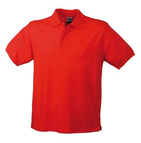 Hochwertiges Polohemd mit Armbündchen Red