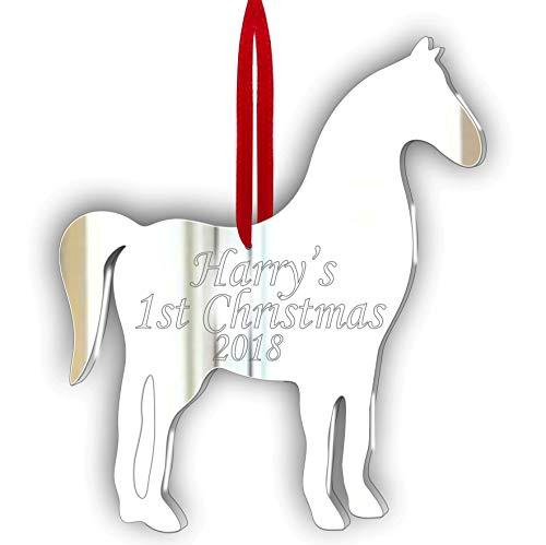 personalisierbar Stück Pferd Schmuck Acryl-Spiegel (10cm jede)-Fenster, Hängen-Decke,-Tür-Kinderzimmer-Die Kinder-Zimmer Dekoration * * Mütter Day Special * *, Pack of 3- Personalised -