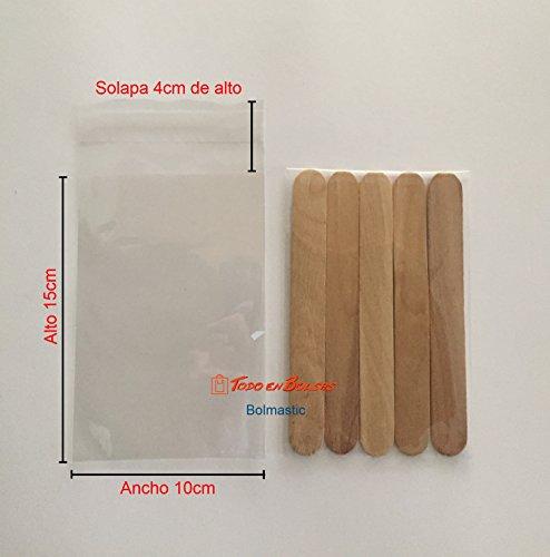 Bolsa de Polipropileno con Solapa Adhesiva de 10 x 15 cm (1000 Unidades)