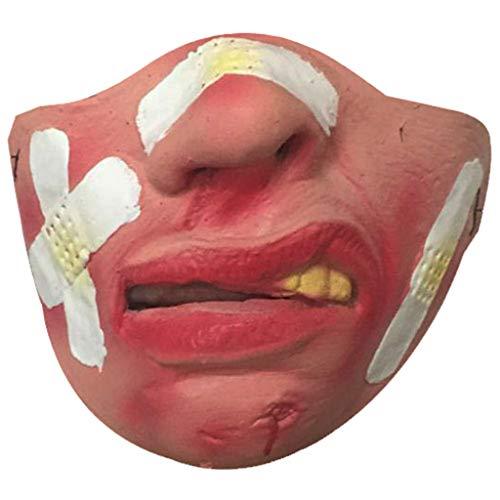 Hffan Halloween Maske Hund Komisch Lustige Große Lippen Kopfbedeckung Maske Haustier Lustige Maske Party Kostüm Cosplay Karneval Gesichtsmaske Kopfmask (Feuer Hunde Kostüm Baby)