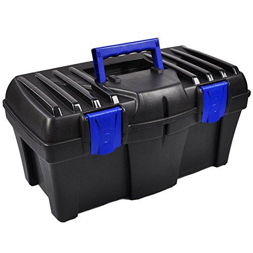BULTO Werkzeugkoffer Werkzeugkasten 18S - schwarz/blau - 460 x 257 x 227 mm