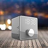 ZYWTZ Haut-Parleur Bluetooth, Batterie Grande Capacité 3600 mAh, Fonction de Support Radio FM, Soutien TF Carte/U Disque, Compatible avec Une Variété De Périphériques Bluetooth,Gray