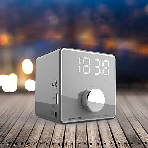 ZYWTZ Bluetooth Lautsprecher, 3600 mAh Batterie mit großer Kapazität, Unterstützung FM Radio Funktion, TF-Karte/U-Diskette Unterstützen, Kompatibel Mit Einer Vielzahl Von Bluetooth-Geräten,Gray
