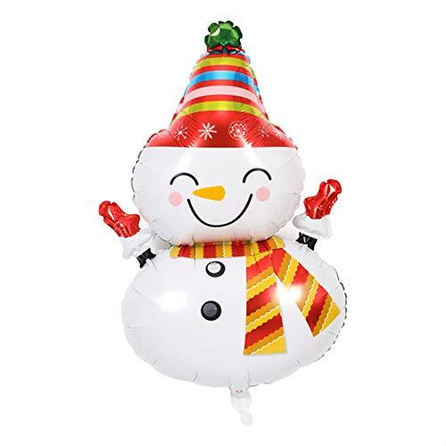 MeterMall Aluminium-Luftballons, Weihnachtsdekoration, Schneemann, Weihnachtsmann, Folienballons Weihnachts-Schneemann