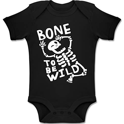 Anlässe Baby - Bone to me Wild Halloween Kostüm - 12-18 Monate - Schwarz - BZ10 - Baby Body Kurzarm Jungen Mädchen