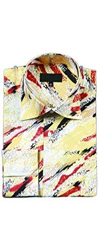 Sunrise Outlet - Chemise habillée - Avec boutons - Manches Longues - Homme Jaune - Moutarde