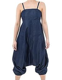 - Combi sarouel urban ethnique denim blue jean soft et leger -