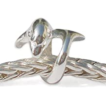 Andante-Stones - original, cuenta de plata de ley 925 sólida, diseño de delfín, elemento bola para pulseras modulares European Beads + saco de organza