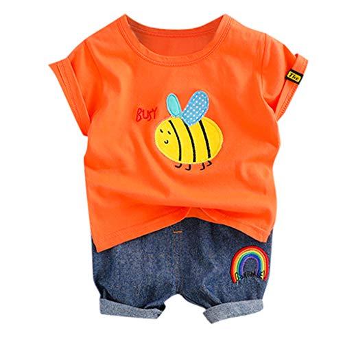 DQANIU ❤️❤️ kinderkleidung, 2 stück Casual Kleinkind Baby Jungen Cartoon Biene Tops t-Shirt + Kurze ()