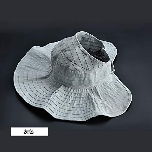 Zaosan Sommer weiblichen Hut frei Faltbare koreanische Version der Rolle leeren Hut Sonnenschirm Hut Wilden Sonnenhut UV-Schutz