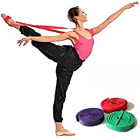 Látex Ballet elástico banda para total flexibilidad danza y gimnasia entrenamiento pie elástico Ballet suave bandas de apertura, rosa