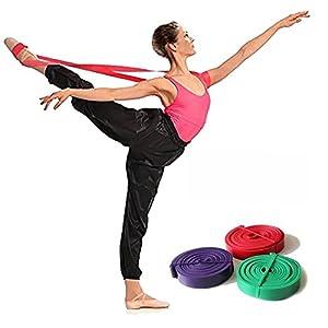 Latex weiches Ballett-Stretch-Band für volle Flexibilität, leicht zu öffnen, für Tanz- & Gymnastik-Training, Dehnen der Füße, Ballett