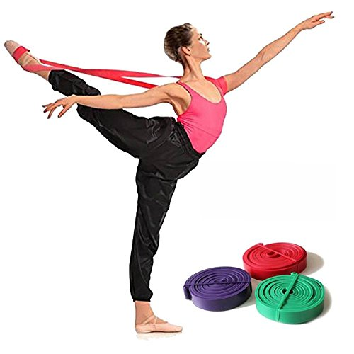 Latex Ballett Stretch-Band für volle Flexibilität Tanz & Gymnastik Training Fuß Stretch Ballett Weich Öffnung Bands, violett - Stretch-band Workout