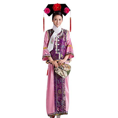 Kostüm Nationalen Kinder Chinesischen - BOZEVON Uralt Chinesisches Kostüm - Damen Chinesischer Stil Kinder Prinzessin Kleider National Traditionell Klassik Kostüm Bühnenshow Kostüm, Violett, EU 110 = Tag 120