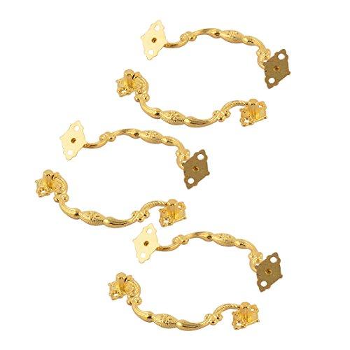 sourcingmap 6 Stk Schrank Kommode Schublade Tür Metall Retro Stil Knopf am Griff Gold - Kommode Knöpfe Autos