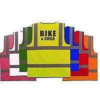 Cyclist Hi Vis Vest Bike & Child High viz Vest Reflective Safety Waistcoat