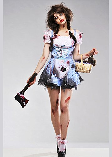 Womens Halloween Zombie Dorothy Kostüm XS (Kostüme Ladies Niedliche Fancy Dress)