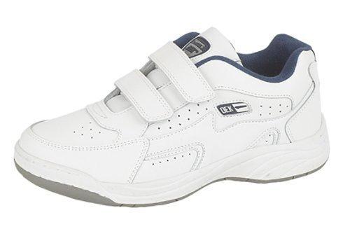 Dek - sneaker da uomo a pianta larga con proprietà antiscivolo, taglie varie, bianco (bianco), 41.5 (8 uk)