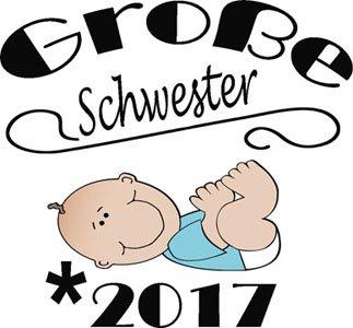 Mister Merchandise Herren Men V-Ausschnitt T-Shirt Große Schwester - 2017 Tee Shirt Neck bedruckt Grau