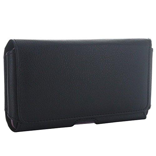 Quertasche Gürtel Handyhülle mit Stahlclip - Größe 5XL - Hasndytasche 1.2 für zB Huawei Honor V8 X5 X6 - LG G6 - Microsoft Lumia 950 XL etc