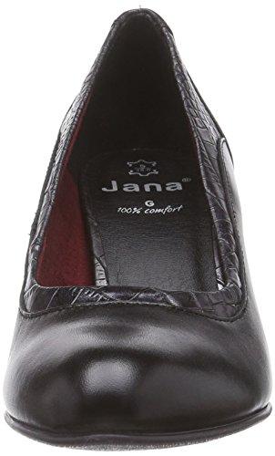 Jana22400 - Decolleté chiuse Donna Nero (Schwarz (schwarz (BLK/MET.STRUCT 097 )))