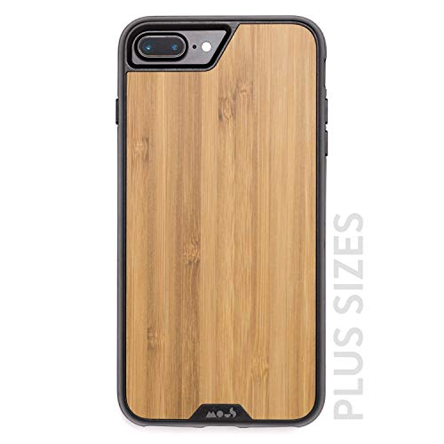 Mous Carcasa Protectora para iPhone Plus 8, 7, 6s y 6 Plus - Madera de Bambú...