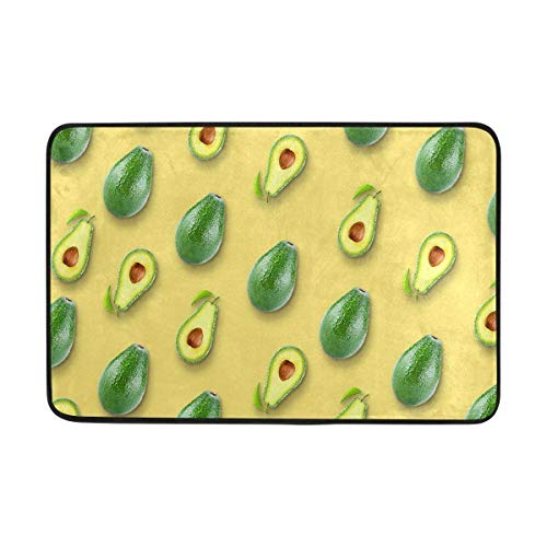 "Doormat Super Absorbs Mud Non-Slip Mats with Flat Avocado for Front Door Inside Floor 15.7""x23.6\"""