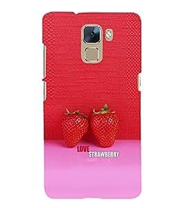 EPICCASE Love Strawberry Mobile Back Case Cover For Huawei Honor 7 (Designer Case)